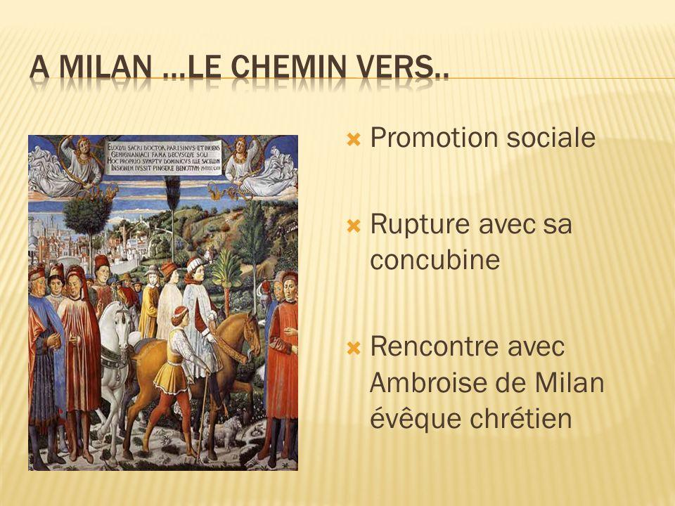 A Milan …le chemin vers.. Promotion sociale Rupture avec sa concubine