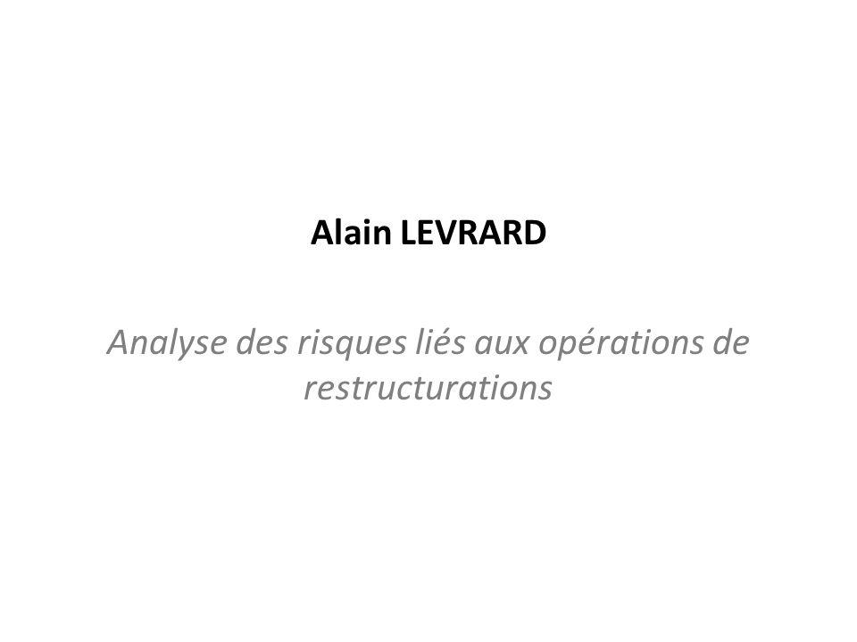 Analyse des risques liés aux opérations de restructurations