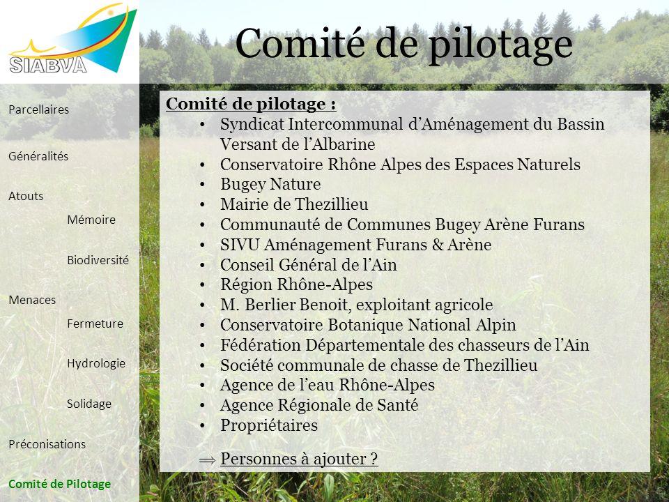 Comité de pilotage Comité de pilotage :