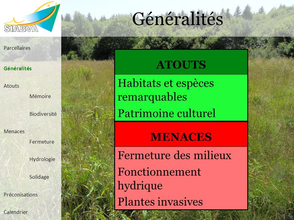 Généralités ATOUTS Habitats et espèces remarquables