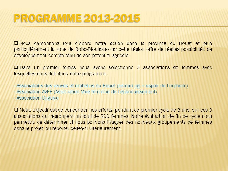 Programme 2013-2015
