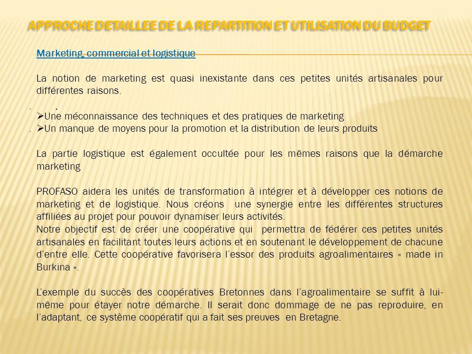 APPROCHE DETAILLEE DE LA REPARTITION ET UTILISATION DU BUDGET