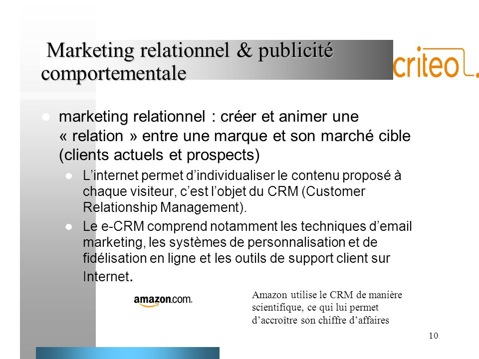 Marketing relationnel & publicité comportementale