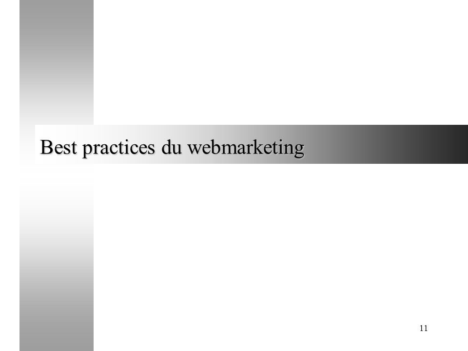 Best practices du webmarketing