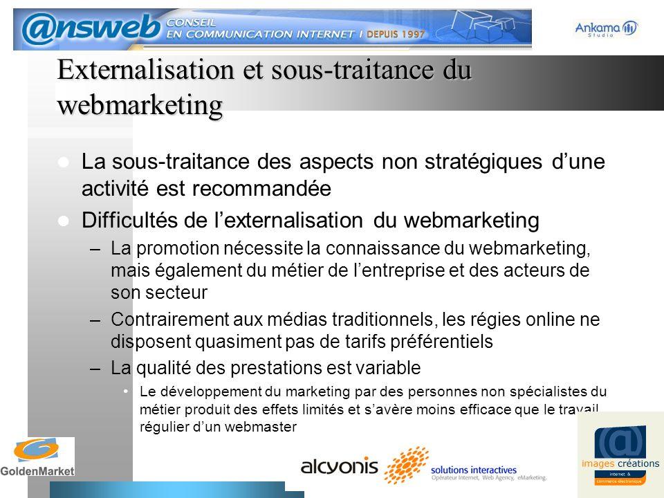 Externalisation et sous-traitance du webmarketing