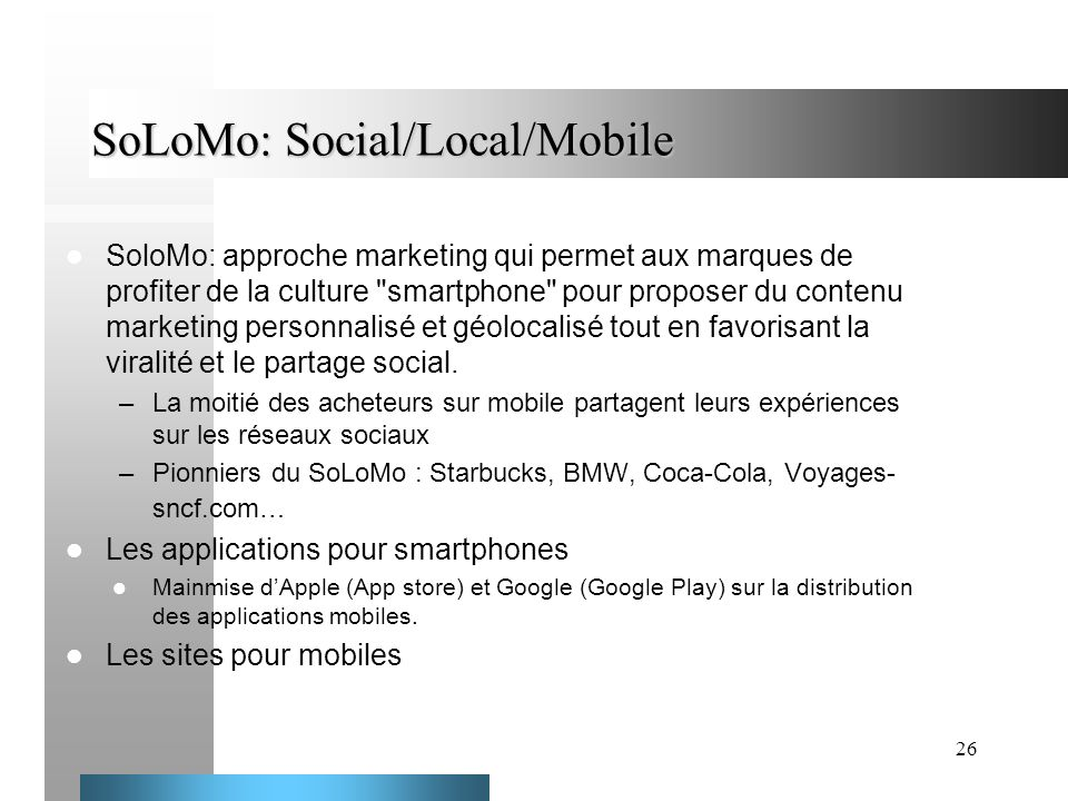 SoLoMo: Social/Local/Mobile