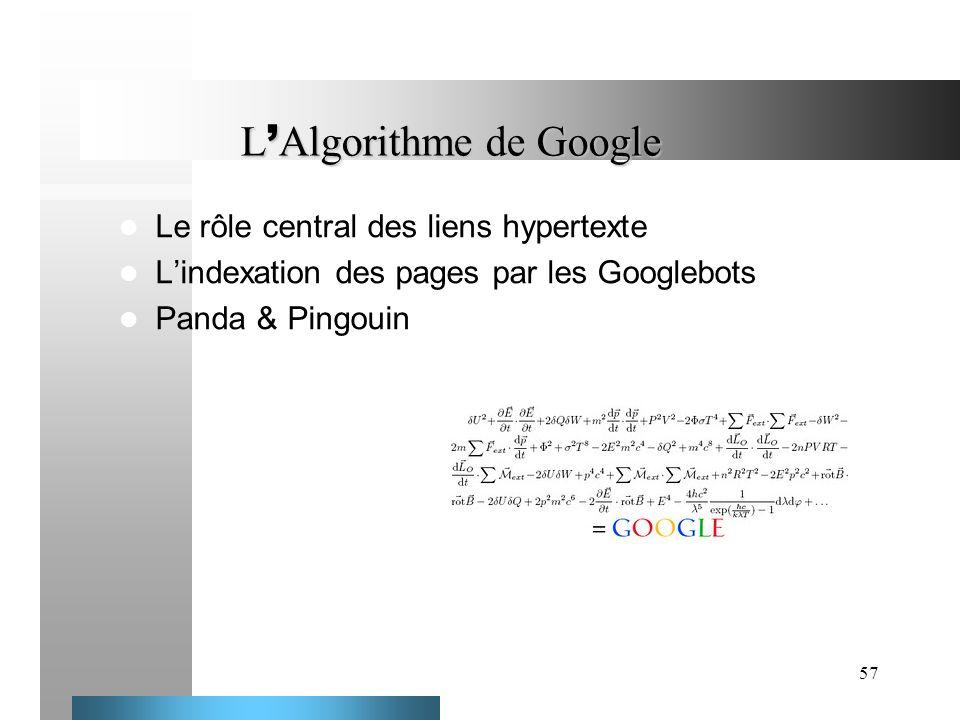 L'Algorithme de Google