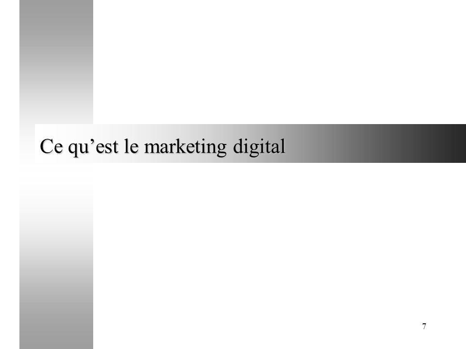 Ce qu'est le marketing digital