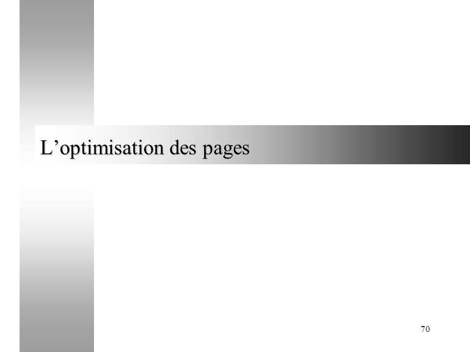 L'optimisation des pages