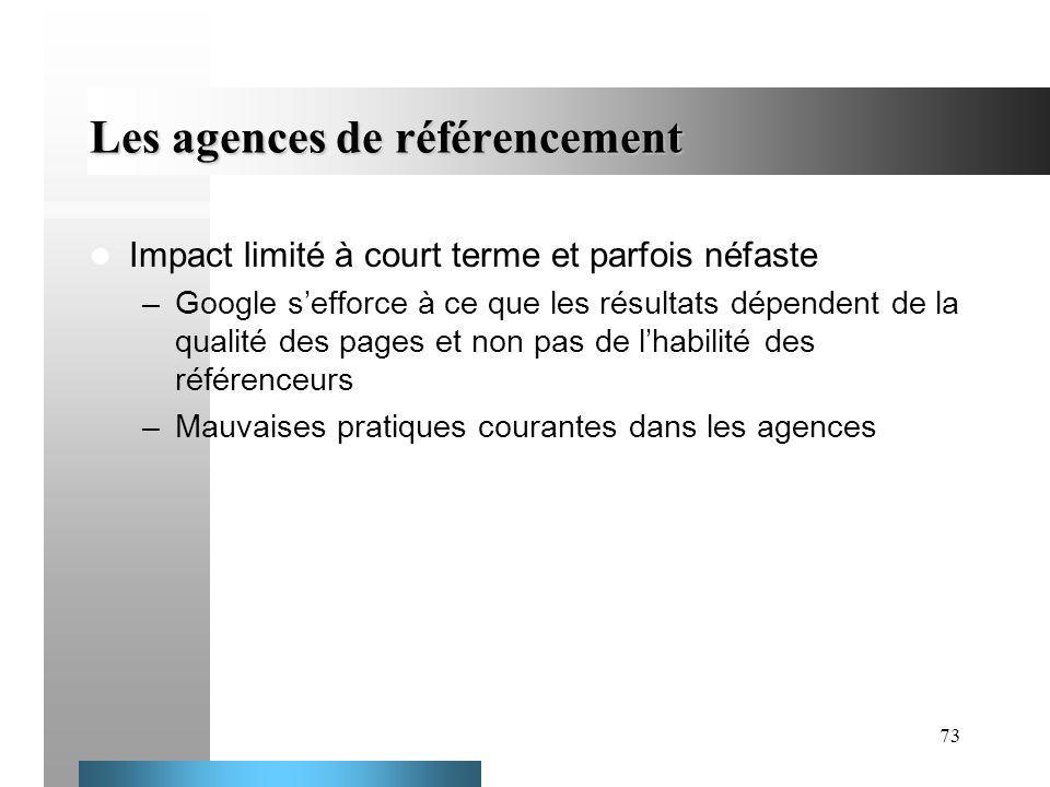 Les agences de référencement