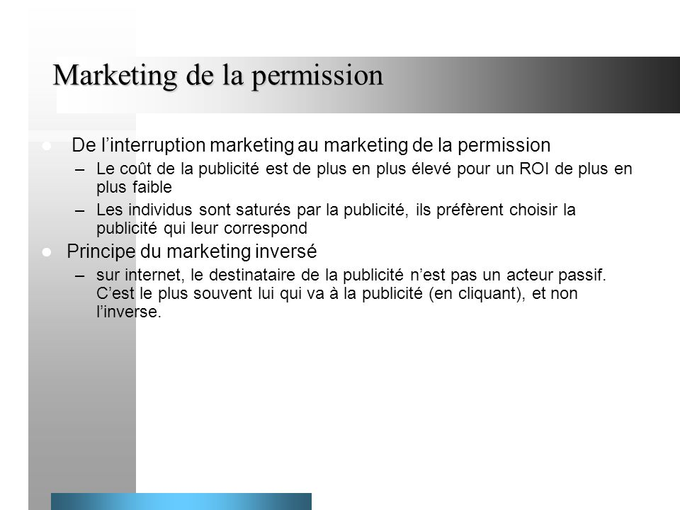 Marketing de la permission