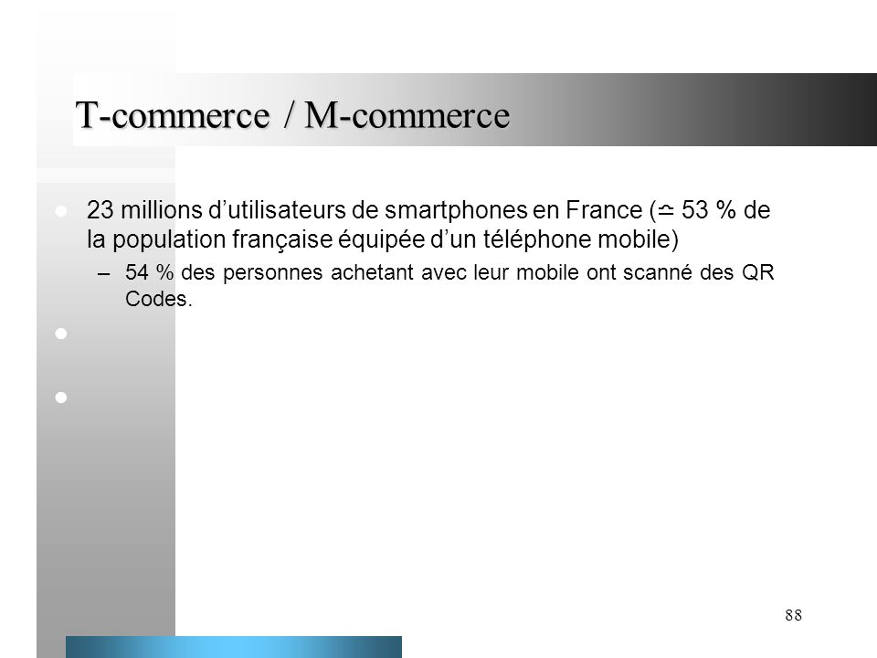 T-commerce / M-commerce