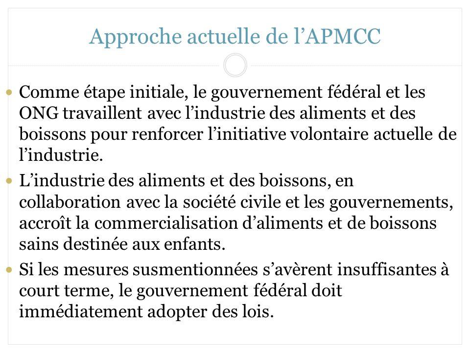 Approche actuelle de l'APMCC