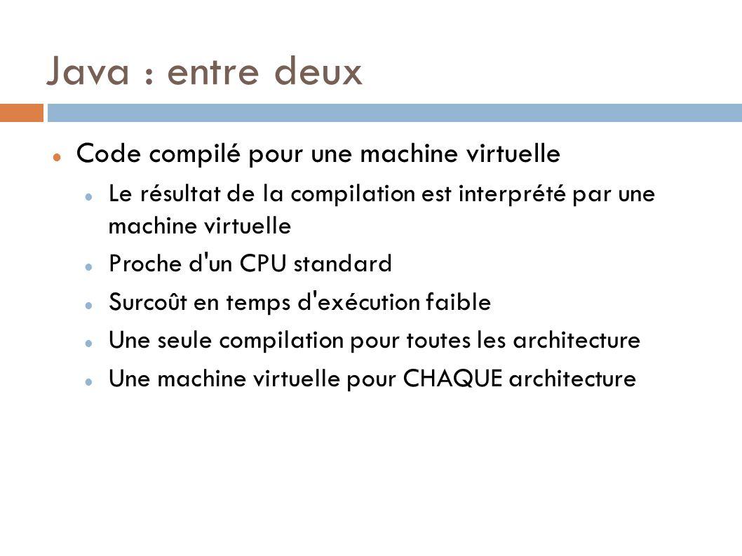 Java : entre deux Code compilé pour une machine virtuelle