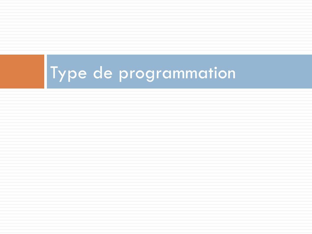 Type de programmation