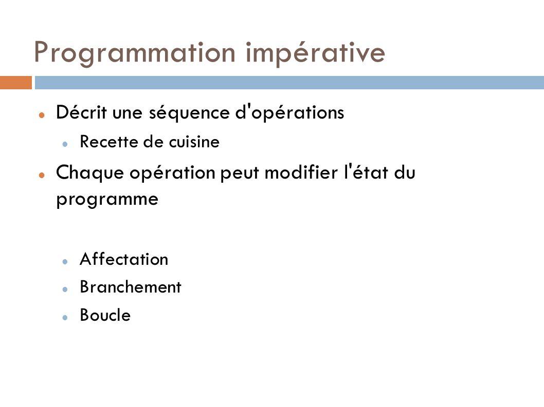 Programmation impérative