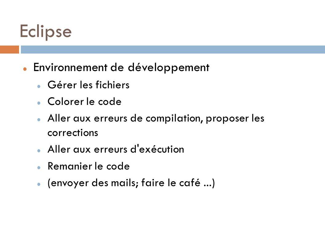 Eclipse Environnement de développement Gérer les fichiers