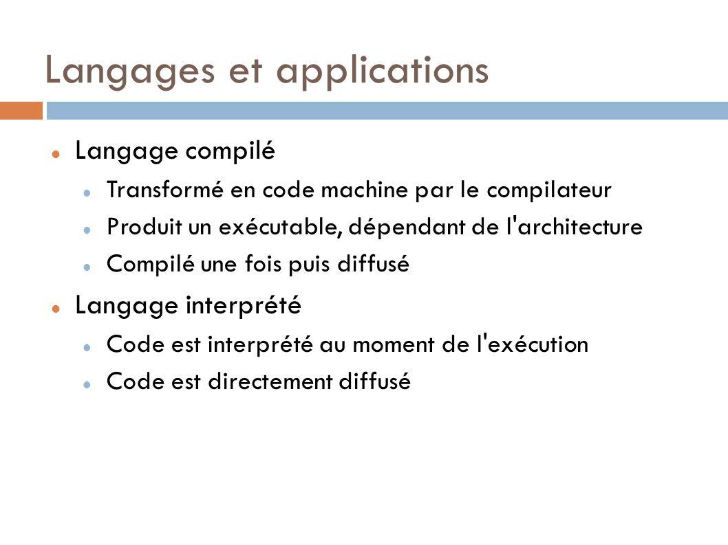 Langages et applications