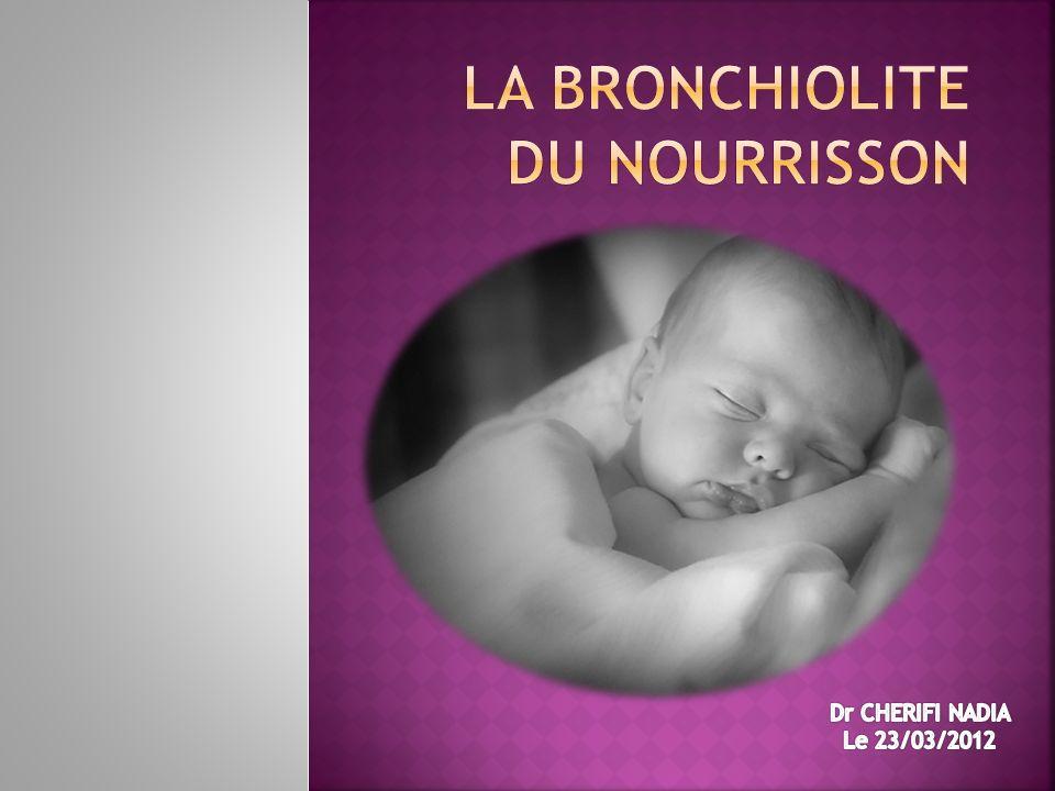 La bronchiolite du nourrisson