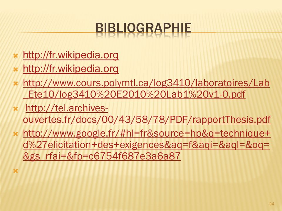 BIBLIOGRAPHIE http://fr.wikipedia.org