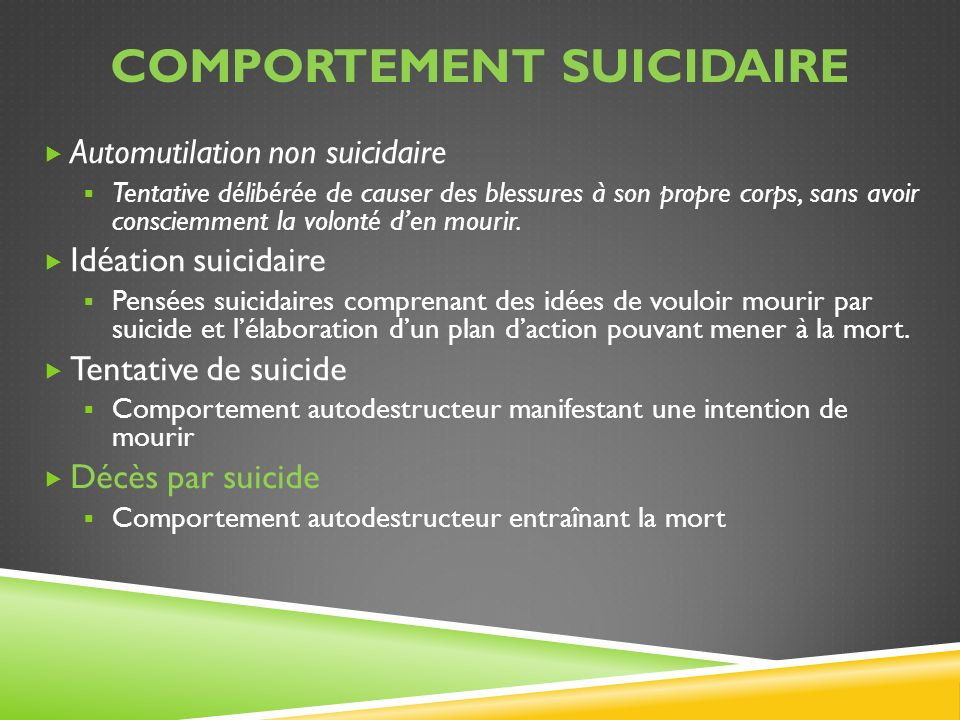 Comportement suicidaire