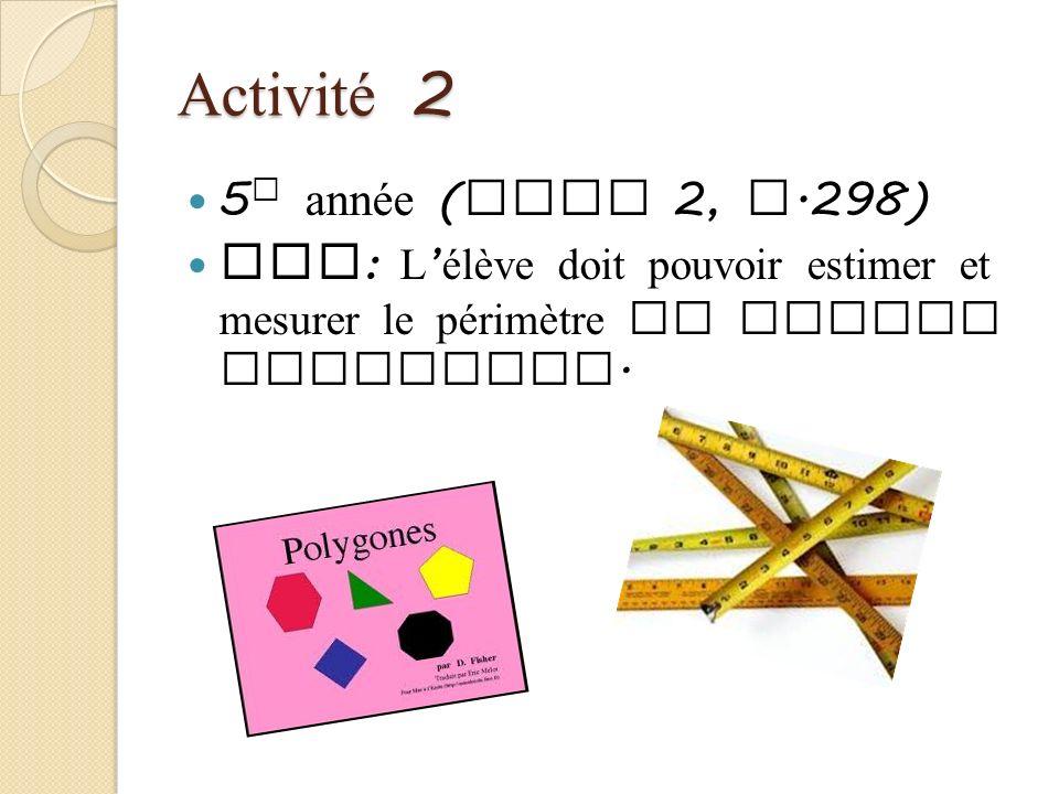 Activité 2 5e année (Tome 2, p.298)