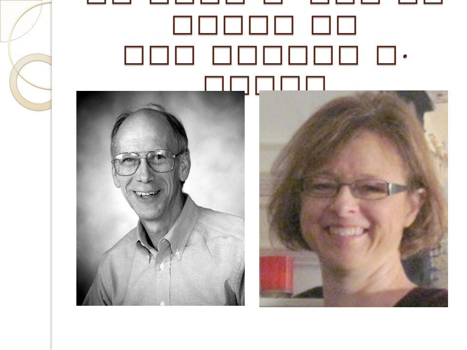 Dr John A. Van de Walle et Dre LouAnn H. Lovin