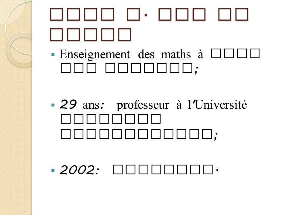 John A. Van de Walle Enseignement des maths à tous les niveaux;