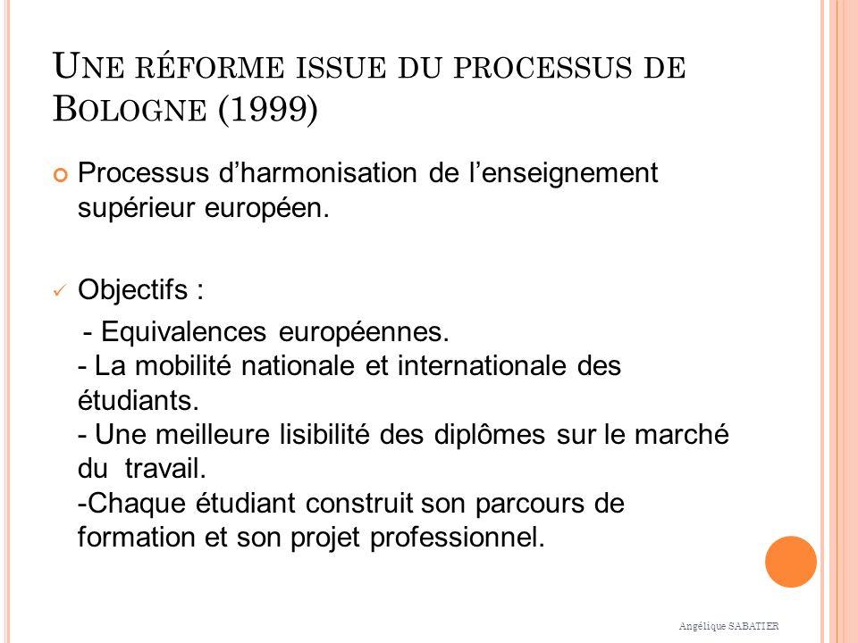 Une réforme issue du processus de Bologne (1999)