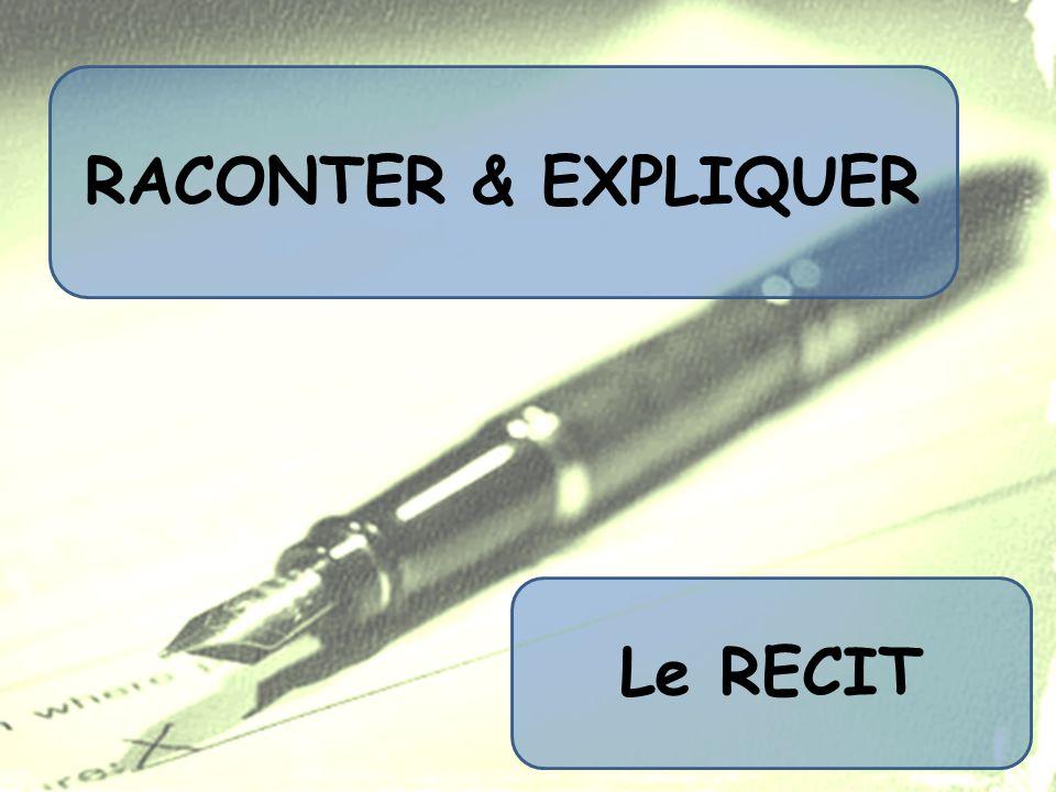 RACONTER & EXPLIQUER Le RECIT