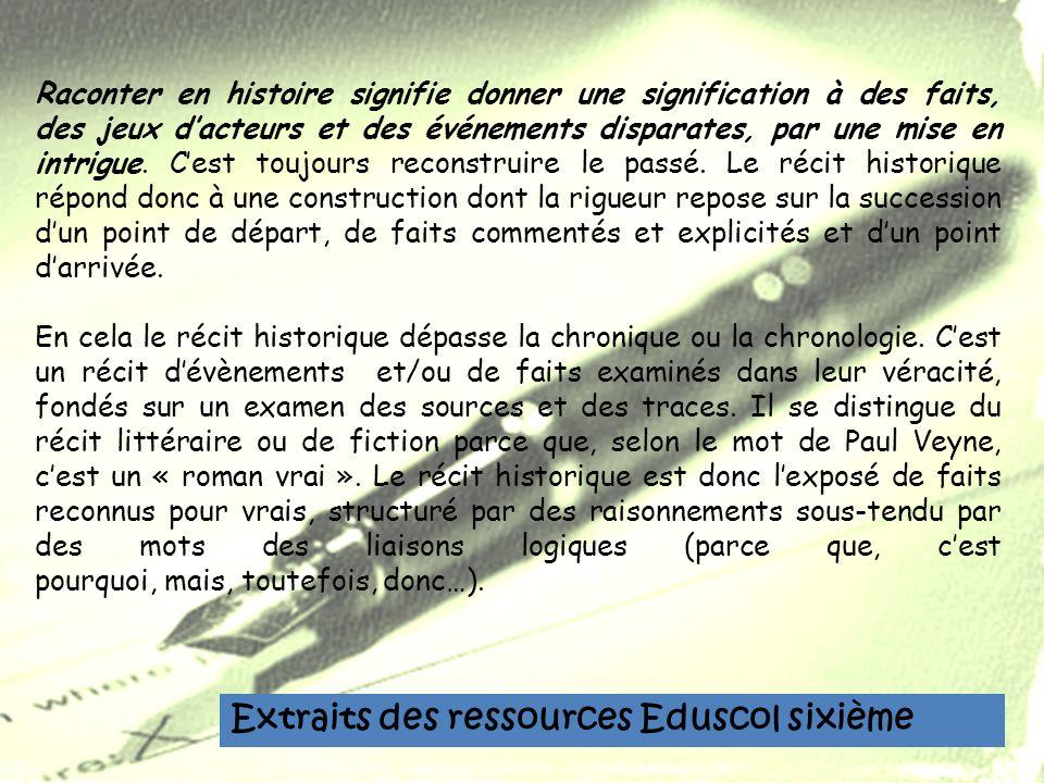 Extraits des ressources Eduscol sixième