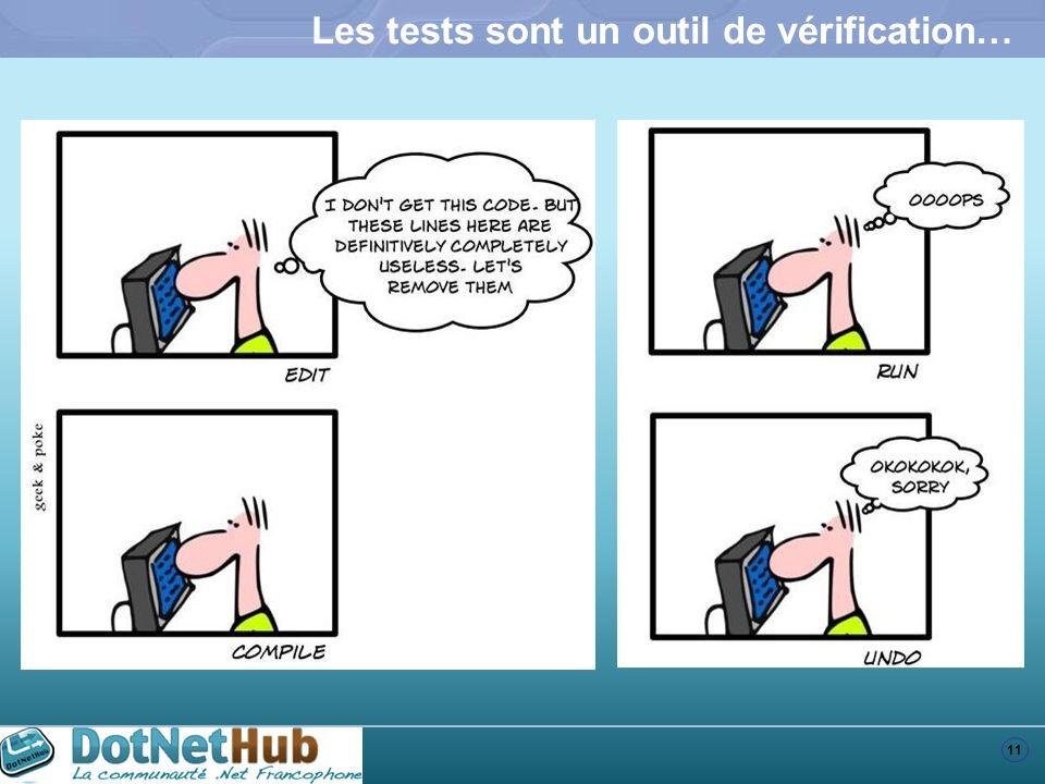 Les tests sont un outil de vérification…