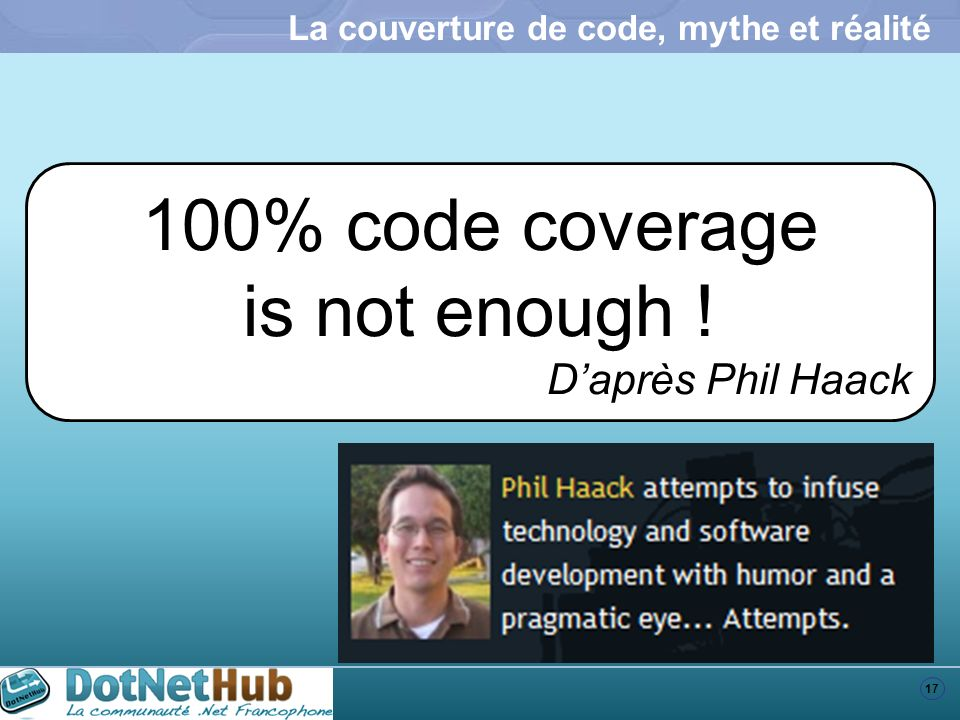 La couverture de code, mythe et réalité