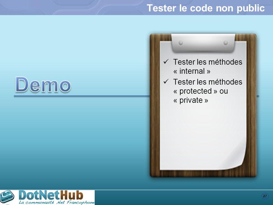 Tester le code non public