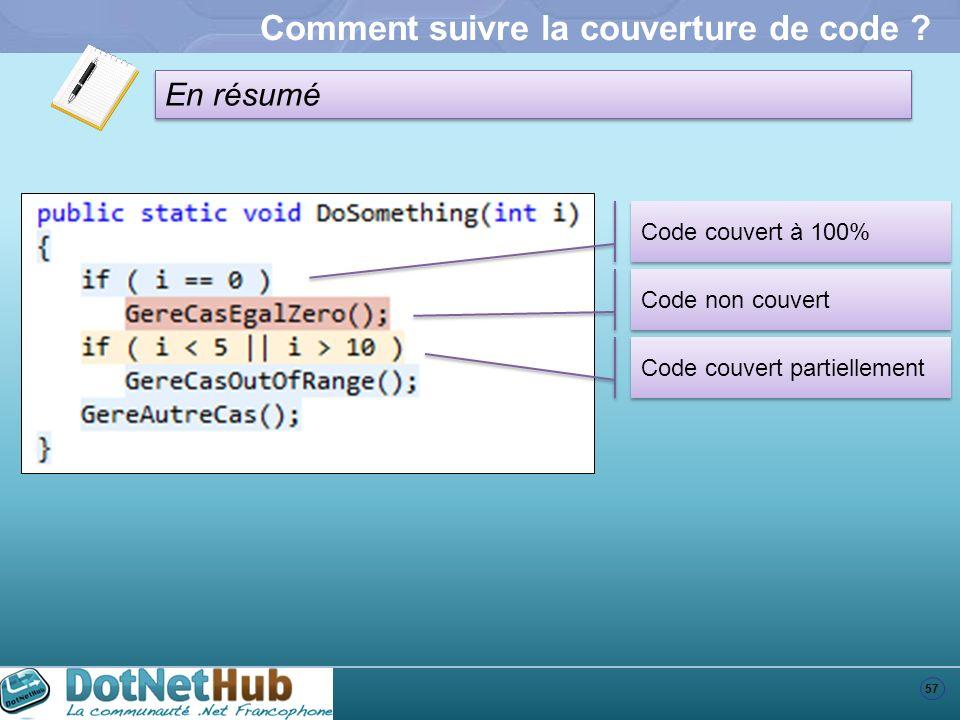Comment suivre la couverture de code