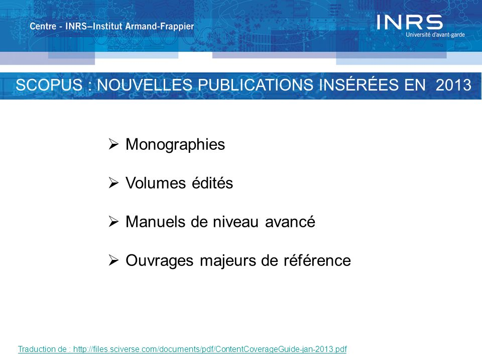 SCOPUS: POURCENTAGE OF TITLES BY SUBJECT AREA