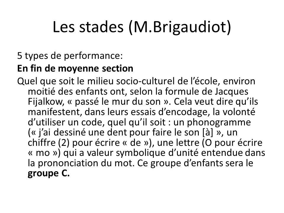 Les stades (M.Brigaudiot)