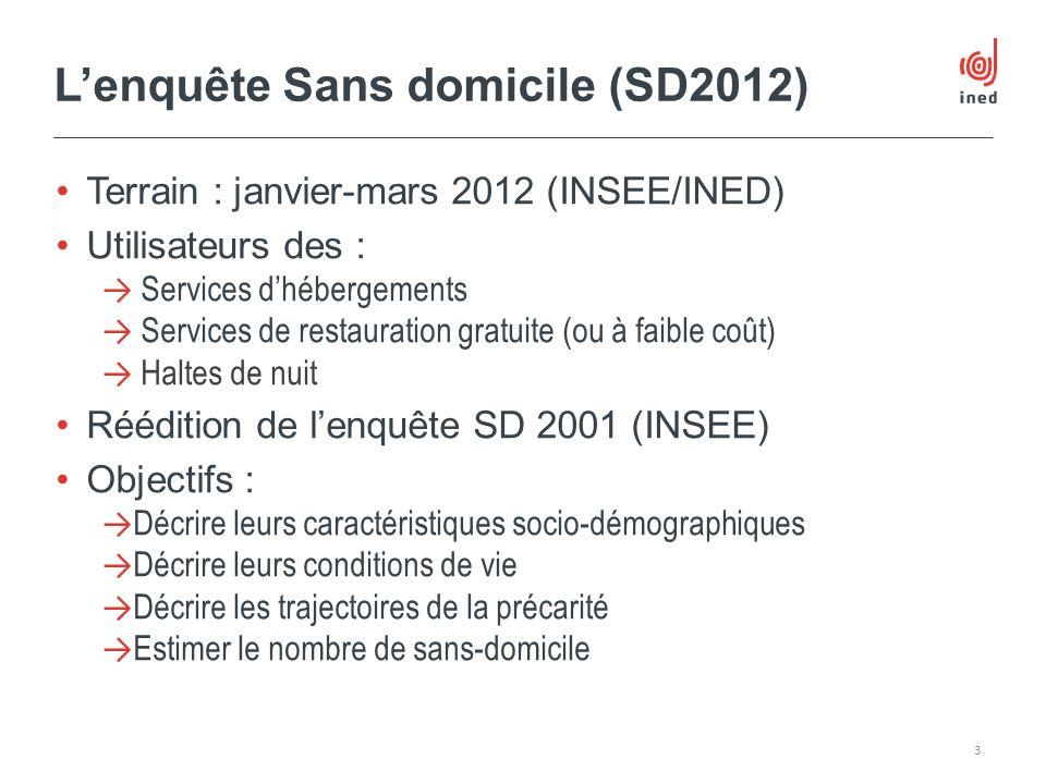 L'enquête Sans domicile (SD2012)