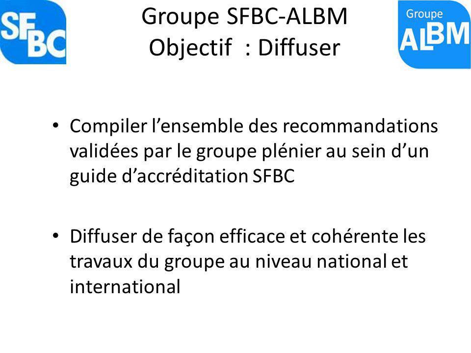 Groupe SFBC-ALBM Objectif : Diffuser