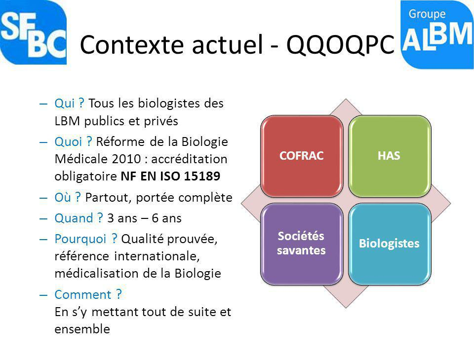 Contexte actuel - QQOQPC