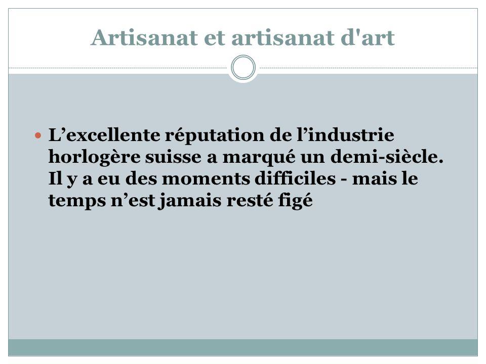 Artisanat et artisanat d art