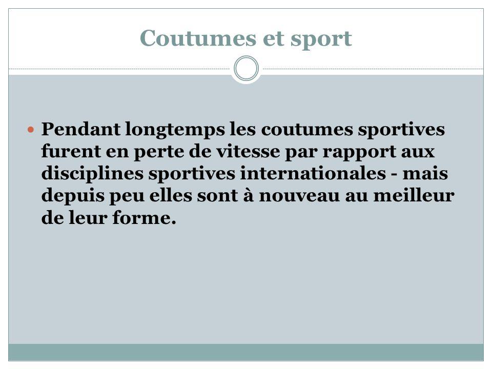 Coutumes et sport