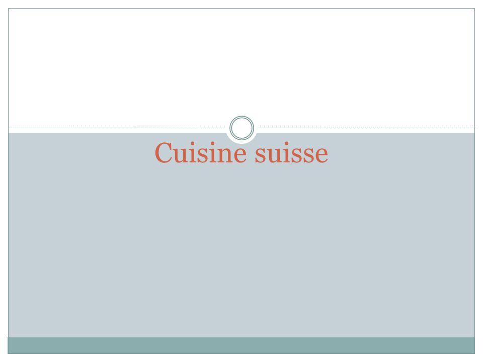 Cuisine suisse