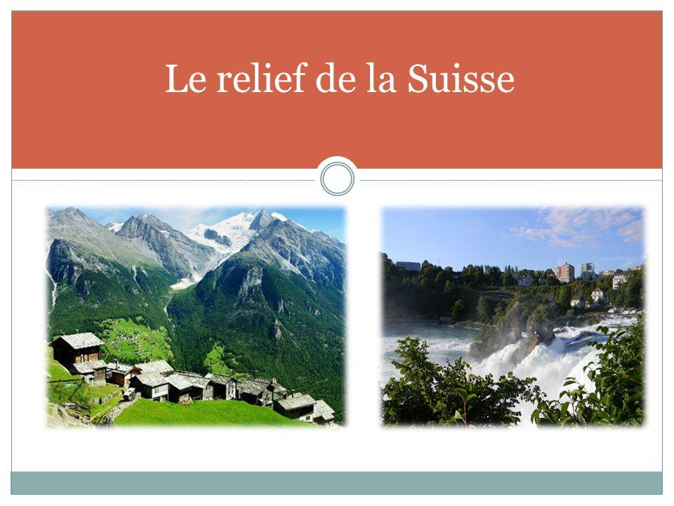 Le relief de la Suisse