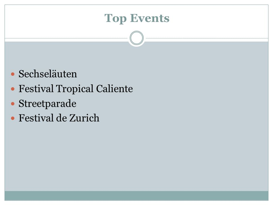 Top Events Sechseläuten Festival Tropical Caliente Streetparade