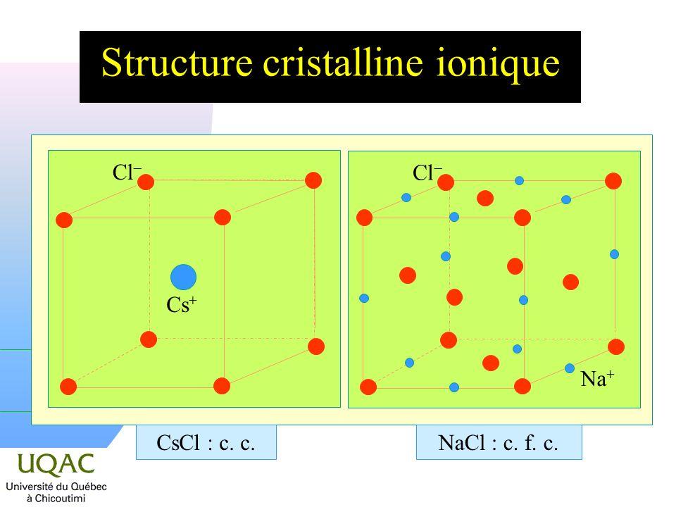 Structure cristalline ionique