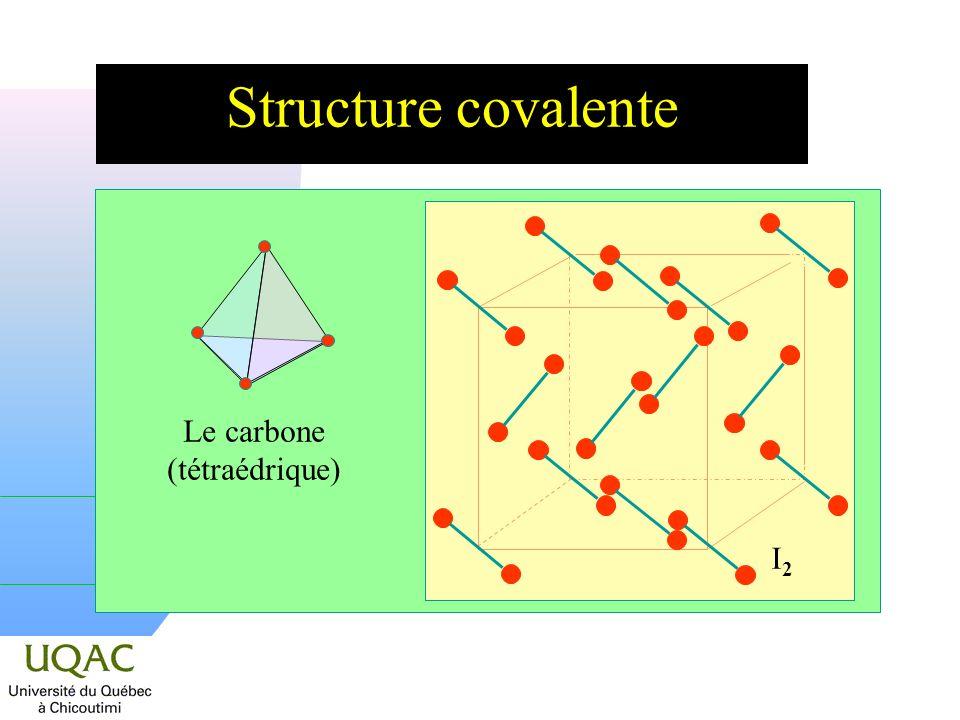 Le carbone (tétraédrique)