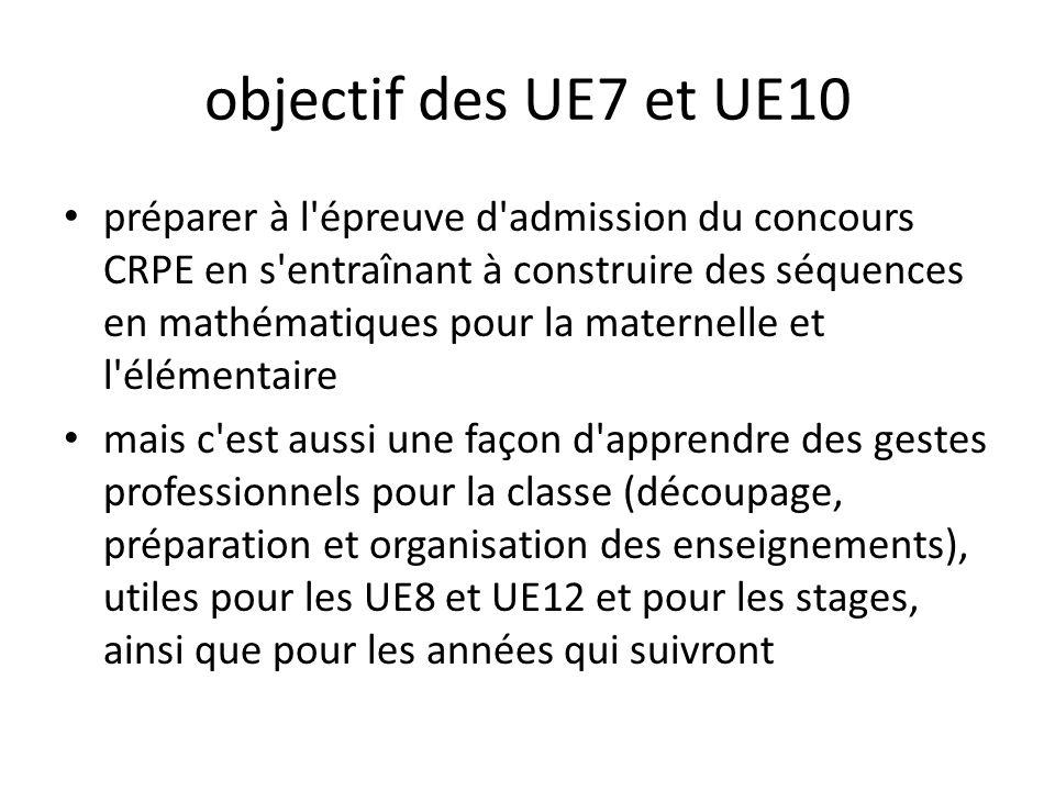 objectif des UE7 et UE10