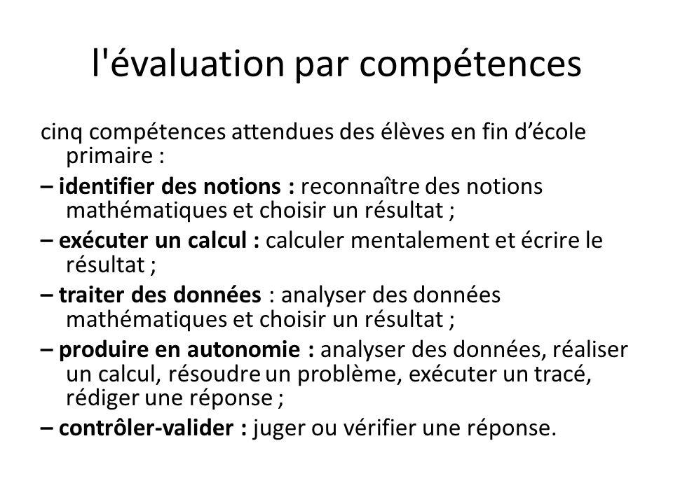 l évaluation par compétences