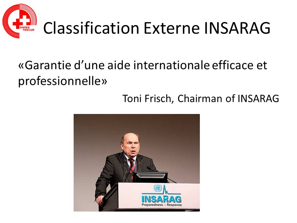 Classification Externe INSARAG